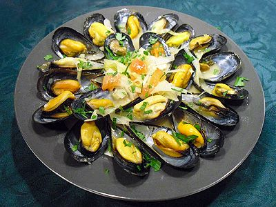 Moules à la bordelaise. Un délice de Chantal  #recette #recipe