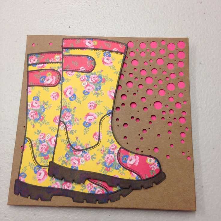 Woodware Wellies stamp