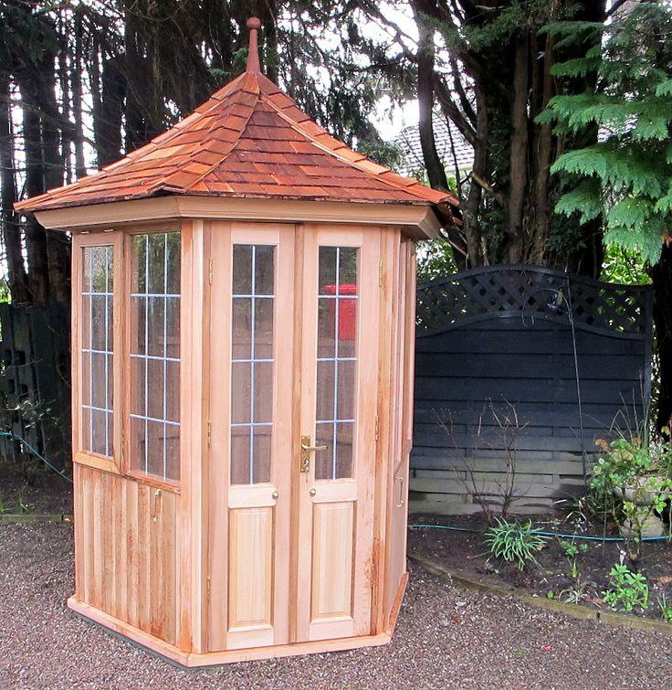 Garden Summerhouse installation in Cork. 1800mm/6 feet Hexagonal. www.victoriangardenbuildings.com