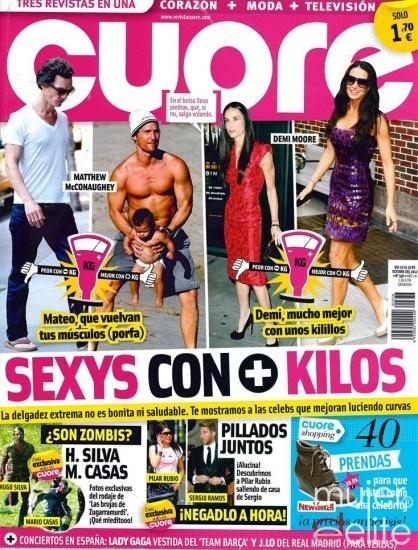 Las portadas de las revistas del corazón de esta semana: Los famosos más sexys con más kilos