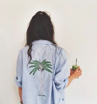 palm tree chambray