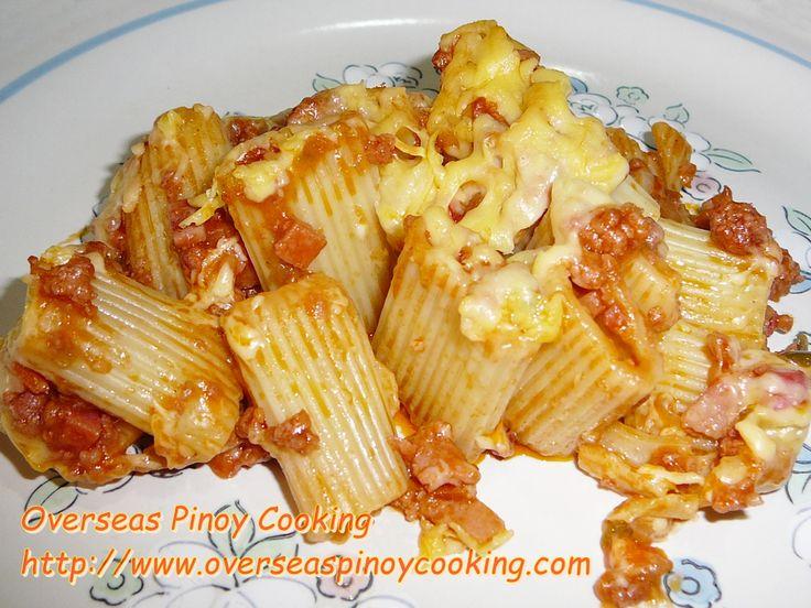Baked Rigatoni Pinoy Style