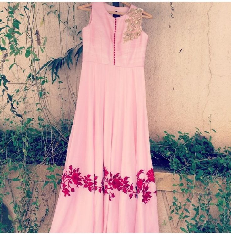 Chamee and Palak # hand crafted Anarkali # Indian fashion
