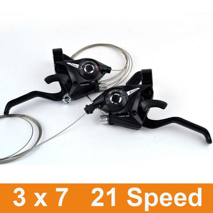 2016 Tout Neuf 1 Paire 2 pcs 3x7 Vitesse Vélo Shifter de frein VTT de Montagne Vélo De Route Vélo Disque Freins Leviers avec Changement câble