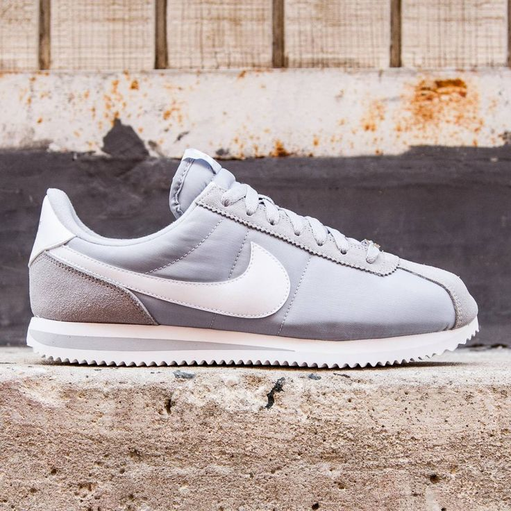 Nike Men Cortez Basic Nylon (gray / wolf grey / white / metallic silver)