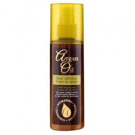 Argan Oil heat defence spray has been specially formulated to help defend your hair against damage caused by heat styling. Enriched with Argan Oil to help leave your hair feeling soft and silky smooth.