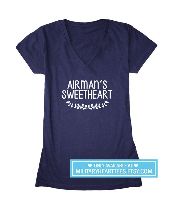 Airman's Sweetheart Custom Air Force Shirt by MilitaryHeartTees