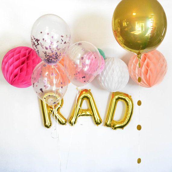 Gold Confetti Balloons Gold Confetti Clear by Twigsandtwirlsllc