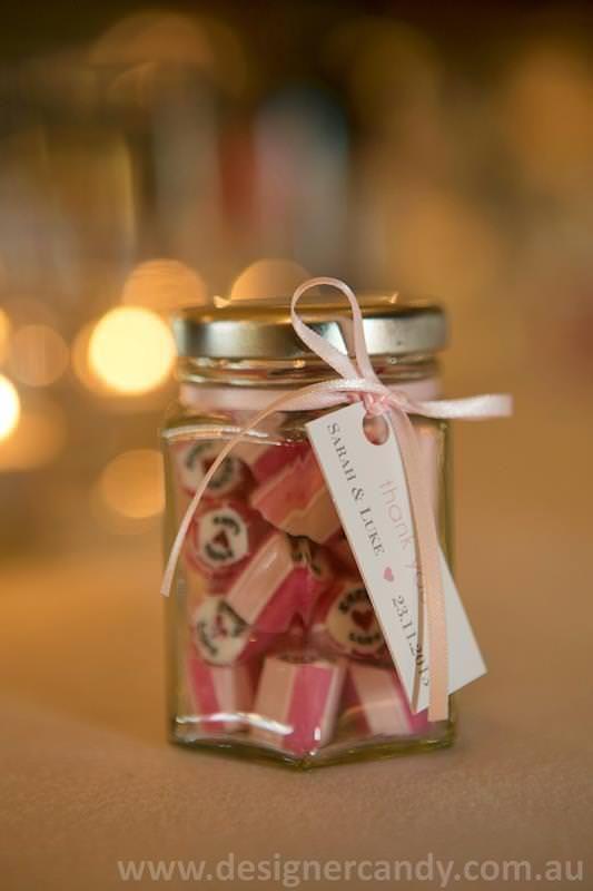 Sarah & Luke - Designer candy personalised wedding bomboniere favors elegant cute small pretty modern