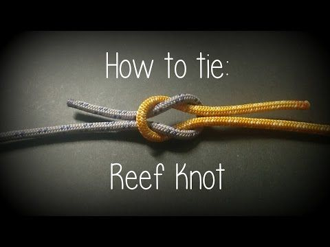How to tie a Reef Knot - YouTube