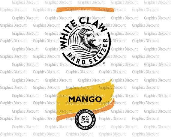 Mango White Claw Can Design Svg White Claw Cans Clipart Vector Can Clipart White Claw Hard Seltzer Clip Art