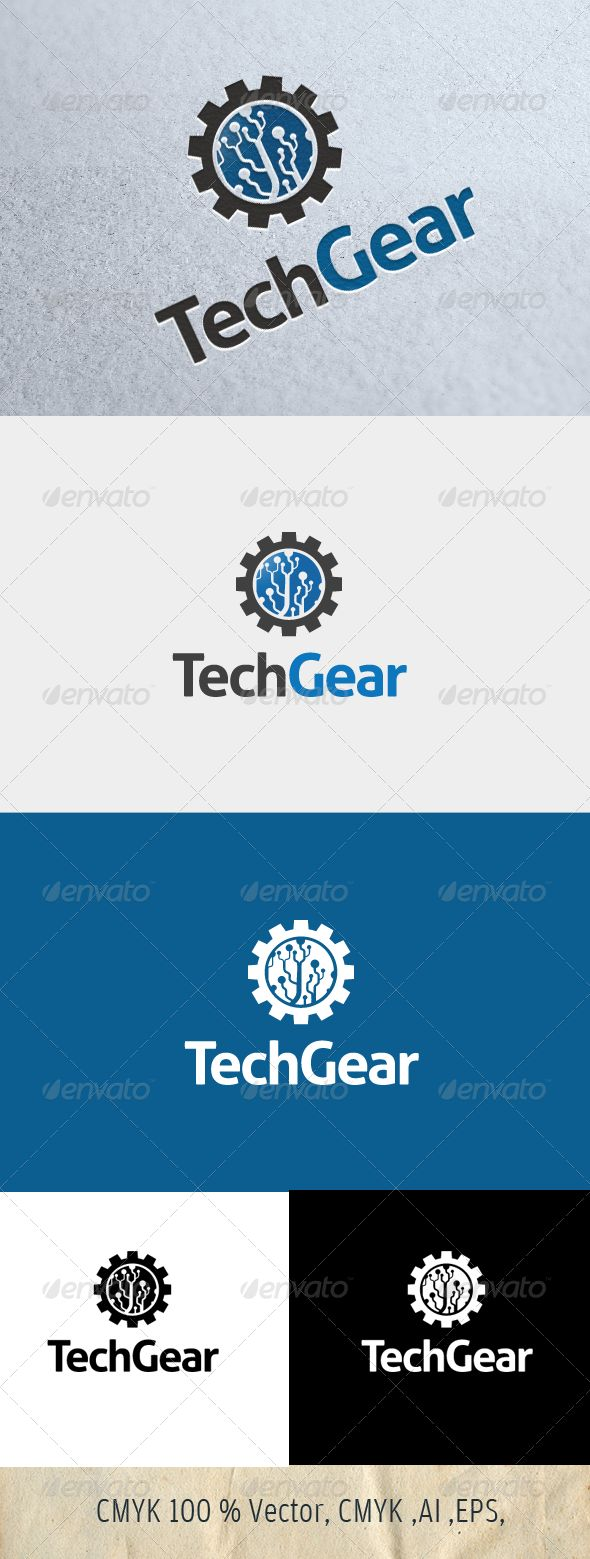 68 best logo templates images on pinterest font logo logo techgear graphicriver easy to edit with highly applicable the pack included 100 biocorpaavc