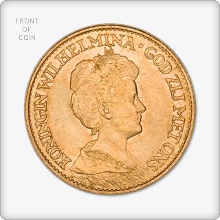 Netherlands 10 Guilder Gold Coin