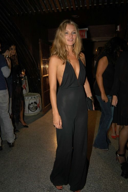Kate Moss. Love a jumpsuit!