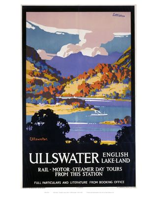Ullswater #Vintage #Rail #Railway #Train #Poster #Posters #Prints #Print #Art #UK #Britain #British #Old #Travel #Cumbria www.vintagerailposters.co.uk