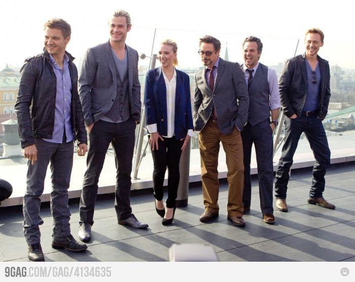 Avengers... *-*Chris Hemsworth, Casual Friday, Scarlett Johansson, Mark Ruffalo, Captain America, Jeremy Renner, Ironman, Tom Hiddleston, The Avengers