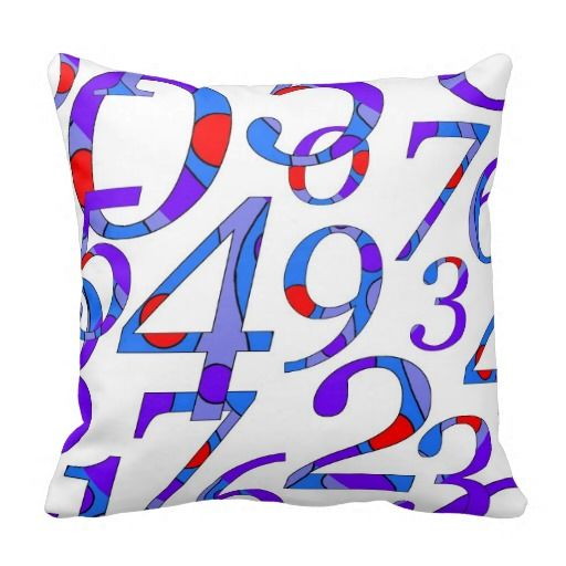 Numbers on White Pillow