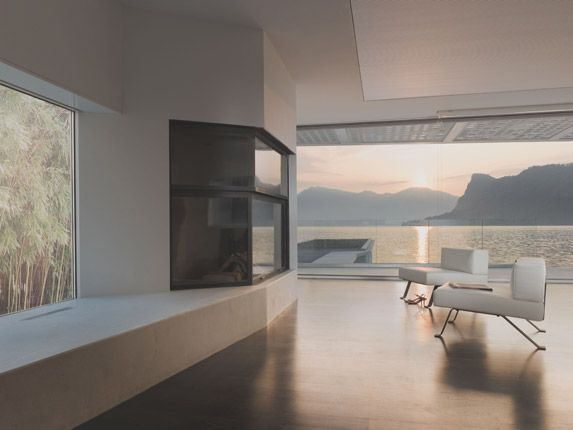 view from a modern house in Switzerland.