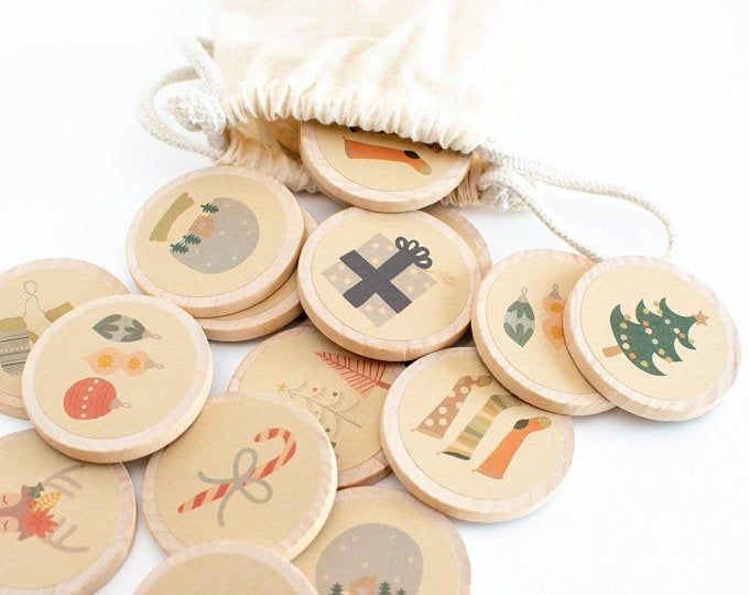 Personalized Thanksgiving Wood Matching Game  Personalized Gifts  Memory Games  Montessori Games  Stocking Stuffers  Holiday Games