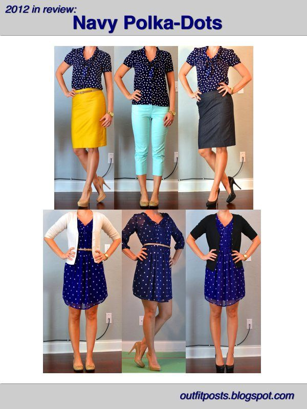 Outfit Posts: 2012 in review - outfit posts: navy polka-dots