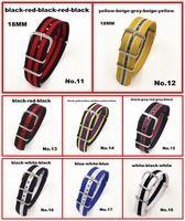 2014 Nuevo llegó 8 colores disponibles -10pcs / lots 18MM de la alta calidad de la banda Nylon Reloj OTAN correa correas reloj resistente al agua - 051201