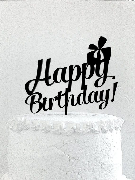 Happy Birthday Cake Topper Custom Cake от CakeTopperDesign