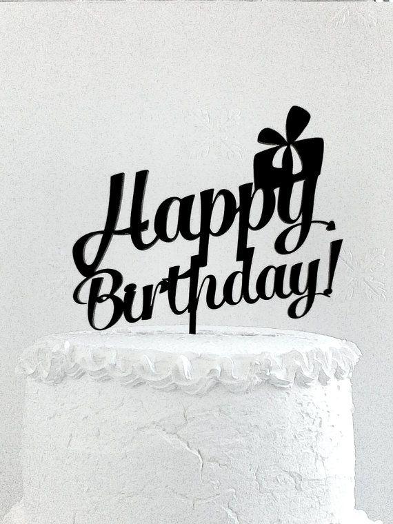 Happy Birthday Cake Topper Custom Cake от CakeTopperDesign