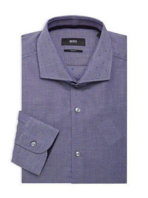 9a957440 BOSS HUGO BOSS Slim-Fit Dotted Dress Shirt. #bosshugoboss #cloth ...