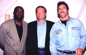 NY Giants Greats: Lawrence Taylor (LT), Jim Fassel & Jeff Hostetler  #nyg