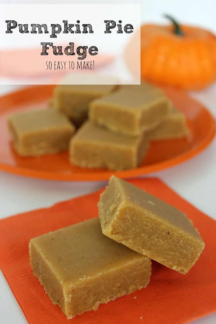 Pumpkin Pie Fudge Recipe