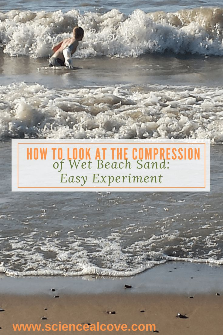 Try this experiment at the beach, at home or in classroom water tables. It is loads of fun and a good opportunity for sensory play. #science #beachscience #sandscience #beachsand