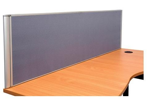Desk Mounted Screens 1500 & 1800 in Blue Clip or screw on workstation panels, 500mm flat top - require two pins per panel 5 Year Warranty
