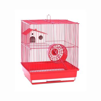 Prevue Hendryx Two Story Hamster And Gerbil Cage / Habitat, Color - Red