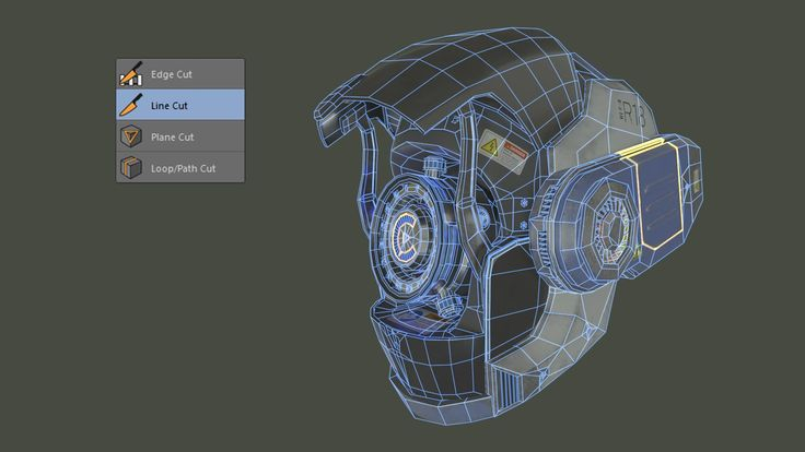 Cut Lines and Splines in Polygon Models with C4D's Line Cut Tool