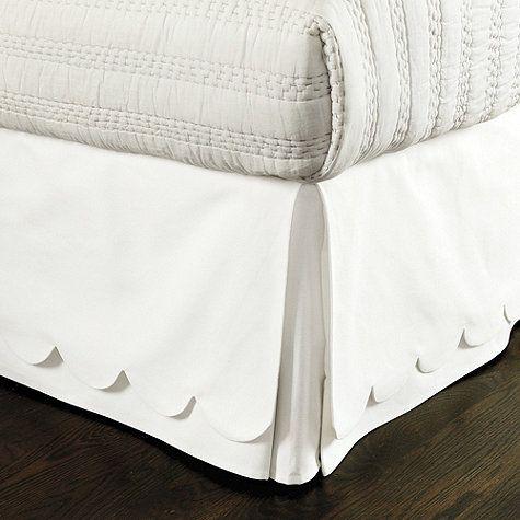 Scalloped Twill Bedskirt | Bedroom | Home Goods | Maison de Montaigu