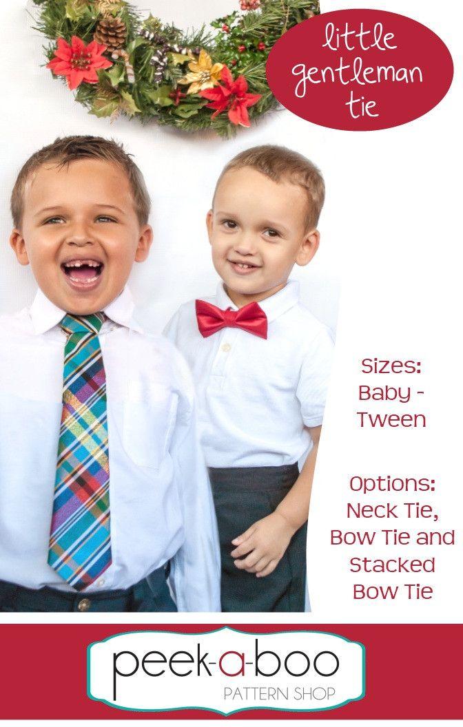 """Little Gentleman Tie # Gr. Baby - Tween (12 Jahre) # von """"Go To Patterns"""" (englisch("""