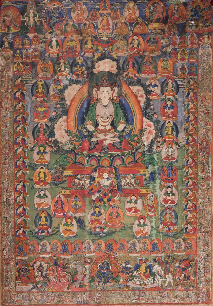 Thangka raffigurante Brahma A Thangka depicting Brahma