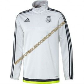 COMPRAR SUDADERA FUTBOL REAL MADRID TRAINING TOP BLANCA 2015/2016