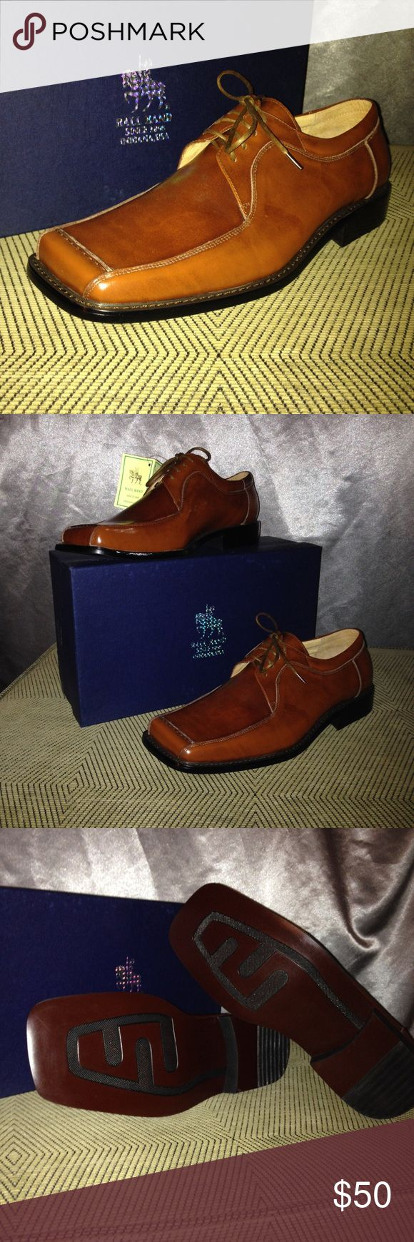 New Men's brown leather dress shoe Ball brand men's leather shoes, New with box never worn BallBrand Shoes Oxfords & Derbys