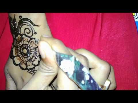 How to draw a easy and simple mehandi (henna) design for hand  for eid tutorial mehani 2017-2018