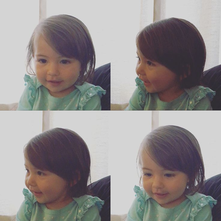 The perfect first cut for baby bangs. Cosmetologist, haircut, baby, bangs, baby girl, first haircut