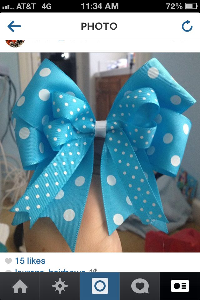 Hair bow insta @laurens_hairbows