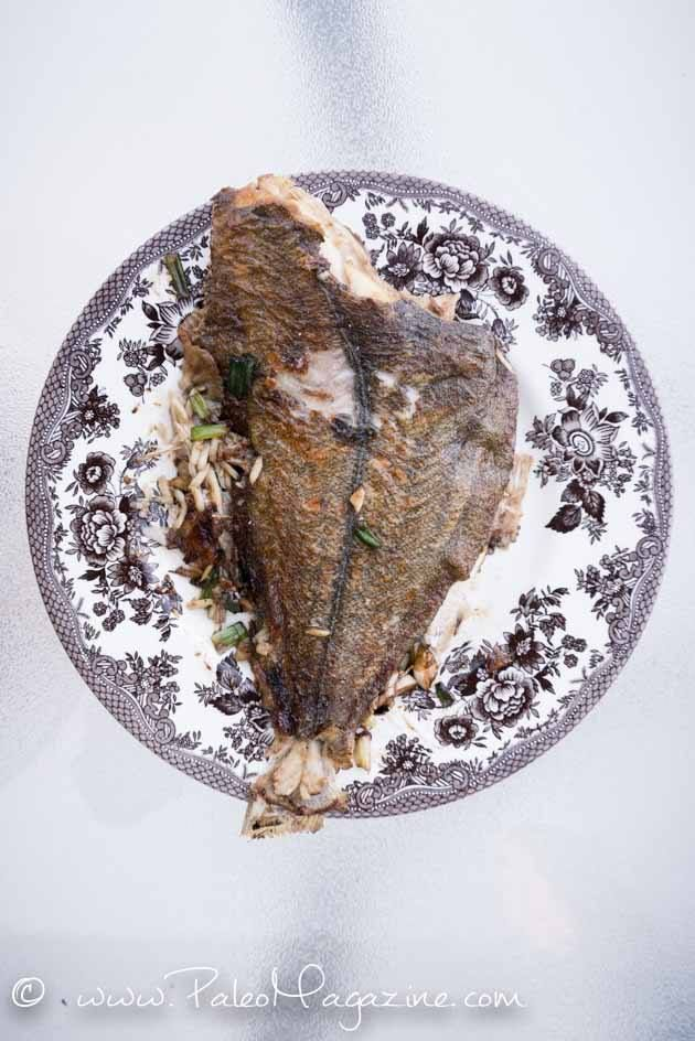 paleo Chinese Petrale Sole Recipe with Ginger and Garlic