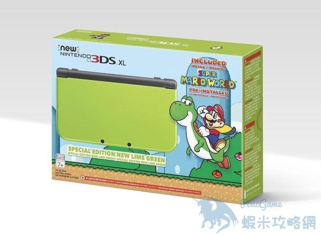 亞馬遜獨家《Nintendo 3DS XL》特別版開箱!清新檸檬綠惹人喜愛