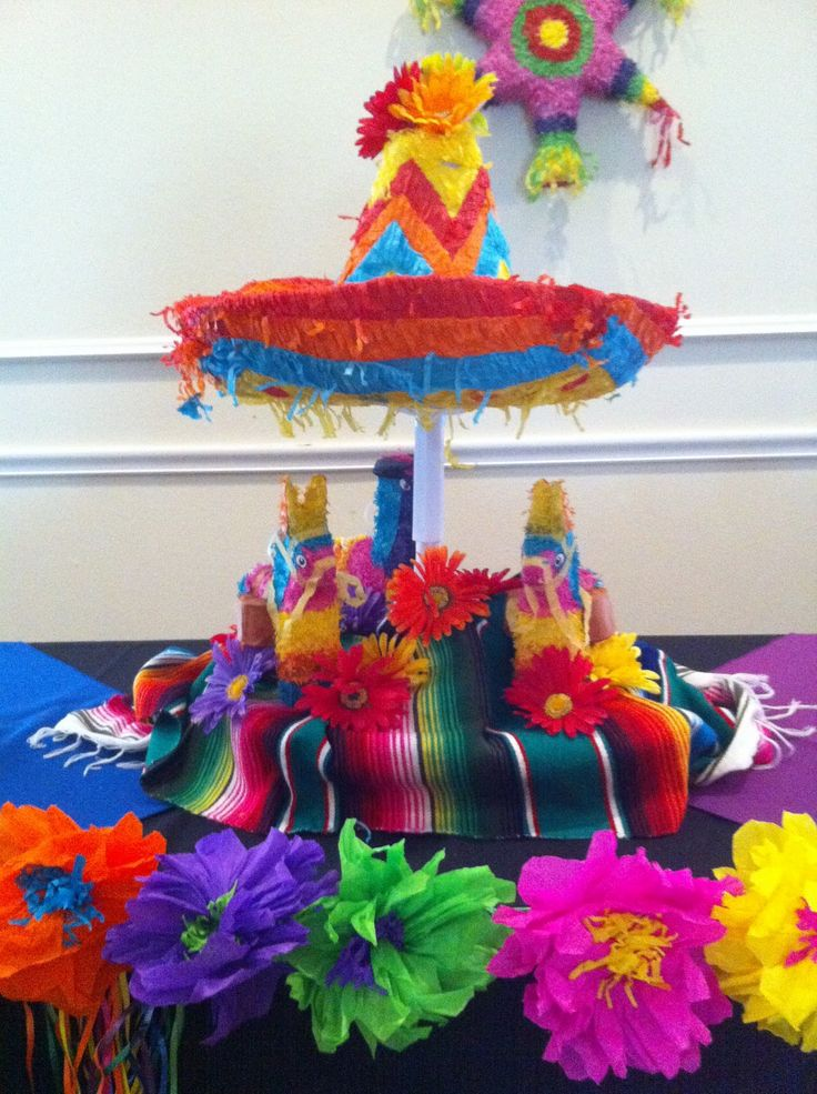 fiesta centerpiece ideas | The Posh Pixie: Mexican Party Table Decorations