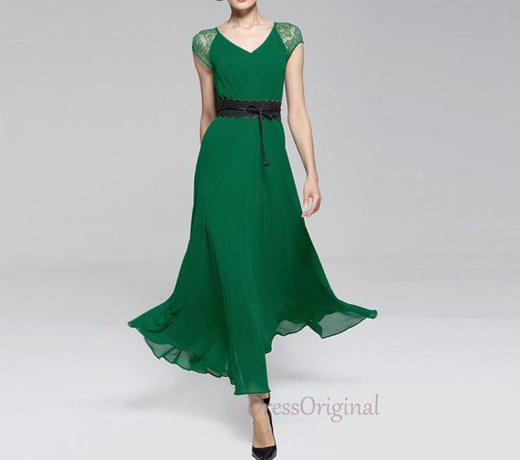 Green Summer dress grass green lace tunic dress by DressOriginal, $59.90