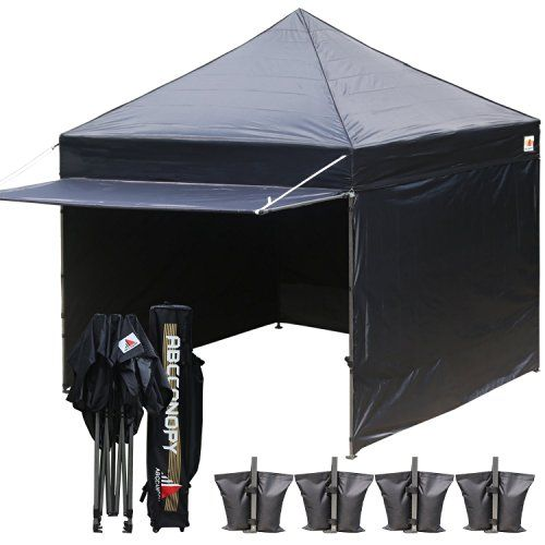 popup canopy tent 10x10 canopy with matching sidewalls weight bags roller - 10x10 Canopy Tent