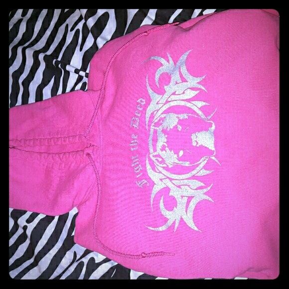 PITBULL LOVERS/SUPPORTER HOODIE Pink women's hoodie PITBULLGEAR.COM Sweaters