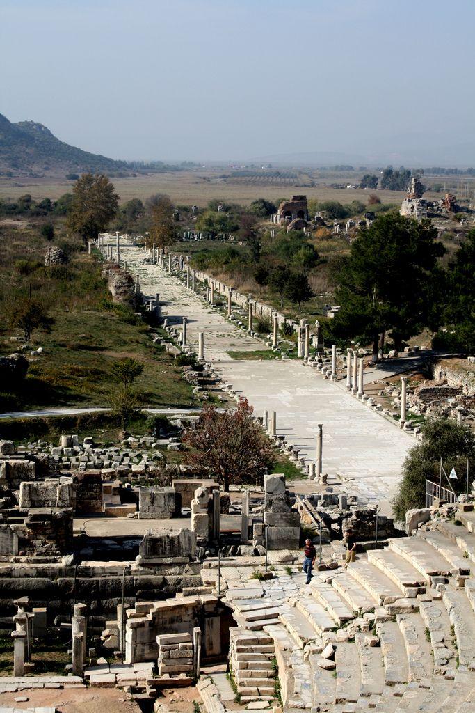 Ephesuswas anancient Greekcity, and later a majorRomancity, on the coast ofIonia, near present-daySelcuk,Izmir Province,Turkey.