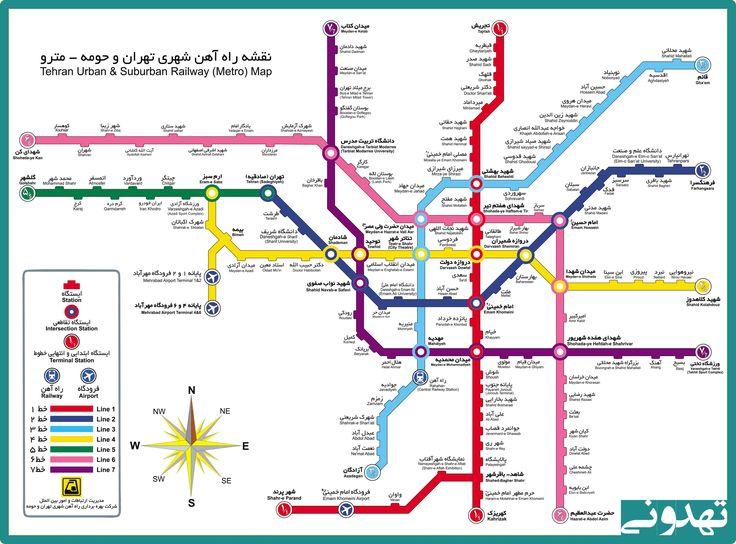 نقشه مترو تهران Metro Map Map Metro